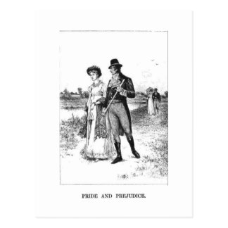 Orgullo y perjuicio - Elizabeth y Sr. Darcy Tarjeta Postal