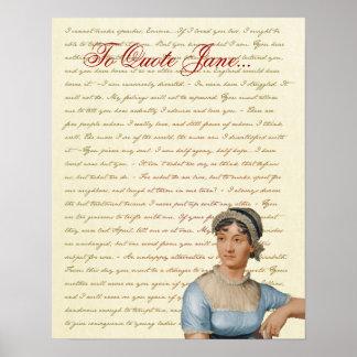 Orgullo y perjuicio, Emma, S&S de las citas de Jan Posters