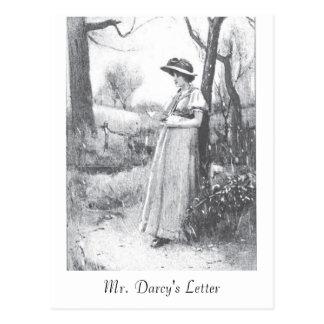 Orgullo y perjuicio:  Letter de Sr. Darcy Postal