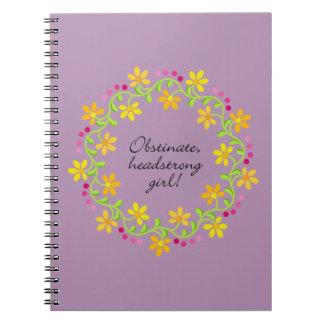 Orgullo y perjuicio testarudos obstinados de notebook