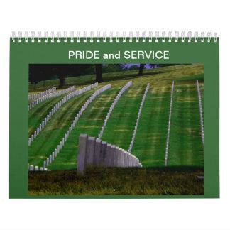 Orgullo y servicio calendarios