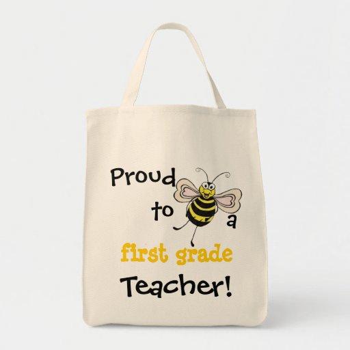 Orgulloso a la abeja un profesor - tote adaptable bolsa