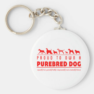 Orgulloso a propio un perro criado en línea pura: llavero redondo tipo pin