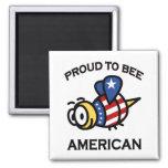 Orgulloso al imán del americano de la abeja