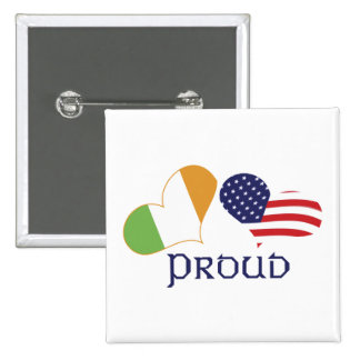 Orgulloso americano irlandés pin