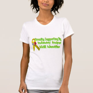 Orgulloso apoyo de mi francotirador de la camisetas