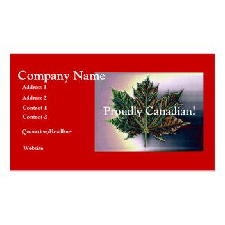 ¡Orgulloso canadiense! - Hoja de arce Tarjetas De Visita