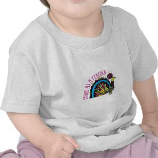 Orgulloso como pavo real camiseta