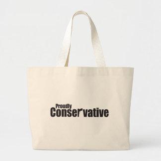 Orgulloso conservador bolsa tela grande
