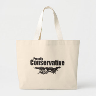 Orgulloso conservador con Eagle Bolsa De Tela Grande
