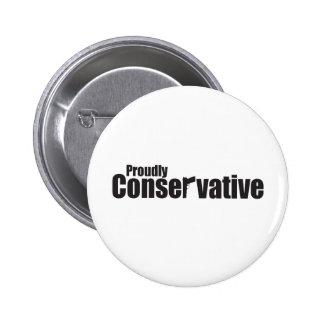 Orgulloso conservador pin redondo de 2 pulgadas