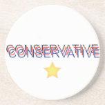 Orgulloso conservador posavasos diseño