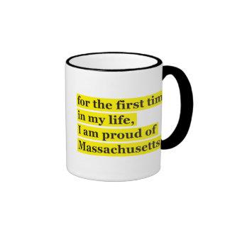 Orgulloso de Massachusetts Taza A Dos Colores