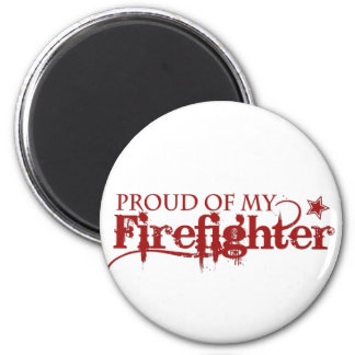Orgulloso de mi bombero imán redondo 5 cm