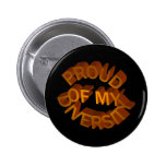 Orgulloso de mi botón de la diversidad pin