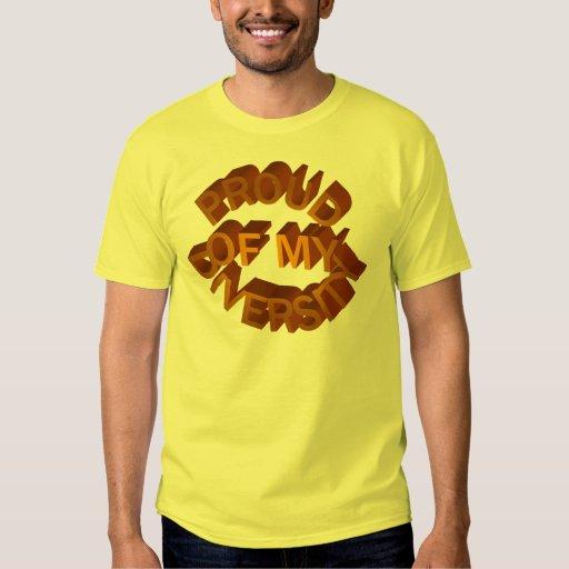 Orgulloso de mi camiseta de la diversidad poleras