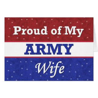 - Orgulloso de mi esposa del ejército - pensamient Felicitacion