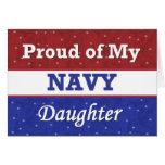 Orgulloso de mi hija de la marina de guerra - pens tarjetas