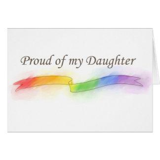Orgulloso de mi hija tarjeta de felicitación