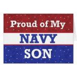 - Orgulloso de mi hijo de la marina de guerra - Felicitacion