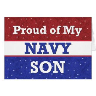 - Orgulloso de mi hijo de la marina de guerra - Tarjeta De Felicitación