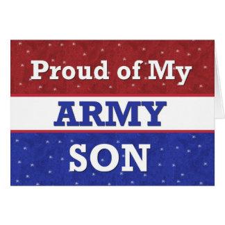 - Orgulloso de mi hijo del ejército - pensamiento Tarjeta De Felicitación