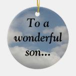 Orgulloso de mi hijo sabio (23:15 de los proverbio ornamentos de reyes magos