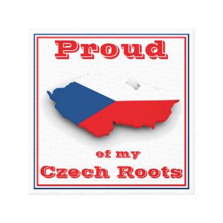 Orgulloso de mi imagen checa de las raíces impresión en lienzo