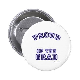 Orgulloso de mi llano del graduado pin redondo de 2 pulgadas