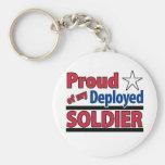 Orgulloso de mi llavero desplegado del soldado