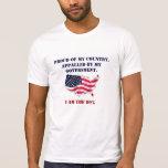 Orgulloso de mi país camiseta