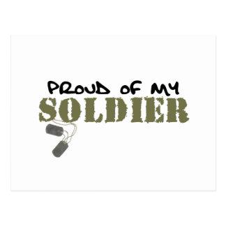 Orgulloso de mi soldado postales