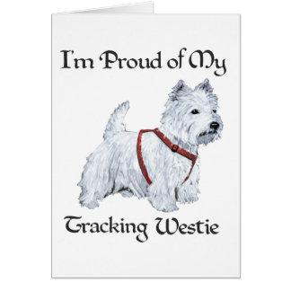 Orgulloso de mi Westie de seguimiento Tarjeta Pequeña