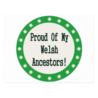 Orgulloso de mis antepasados Galés Tarjetas Postales