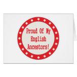 Orgulloso de mis antepasados ingleses felicitación