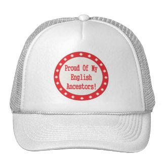 Orgulloso de mis antepasados ingleses gorras