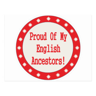 Orgulloso de mis antepasados ingleses postal