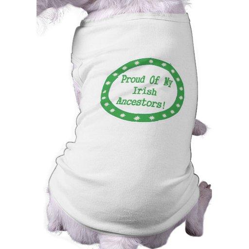 Orgulloso de mis antepasados irlandeses camisetas de mascota