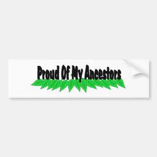 Orgulloso de mis antepasados pegatina para auto