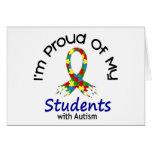 Orgulloso de mis estudiantes autísticos 1 CONCIENC Tarjetas