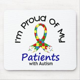 Orgulloso de mis pacientes autísticos 1 CONCIENCIA Alfombrilla De Ratones