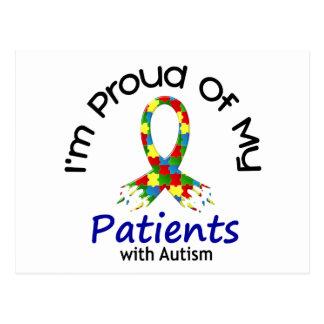 Orgulloso de mis pacientes autísticos 1 CONCIENCIA Postal