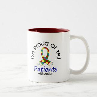 Orgulloso de mis pacientes autísticos 1 CONCIENCIA Tazas De Café