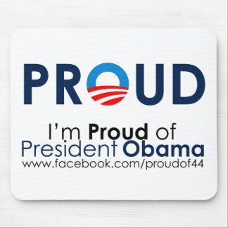Orgulloso de presidente Obama Mousepad Tapetes De Raton