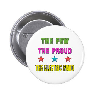 Orgulloso el piano eléctrico pin redondo 5 cm
