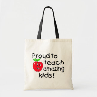 Orgulloso enseñar a los niños asombrosos (Apple) Bolsa
