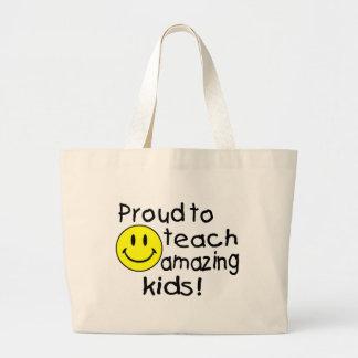 Orgulloso enseñar a los niños asombrosos smiley bolsas