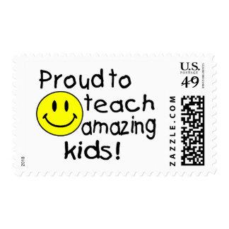 Orgulloso enseñar a los niños asombrosos (smiley) envio