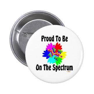 Orgulloso estar en el espectro pin redondo 5 cm