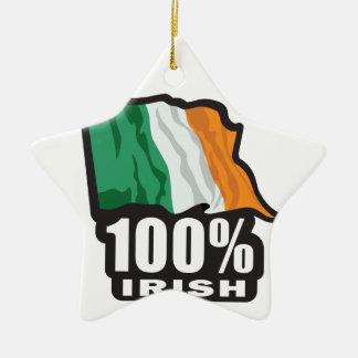 Orgulloso irlandés del 100% ser irlandés adorno de cerámica en forma de estrella